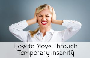 How To Move Through Temporary Insanity